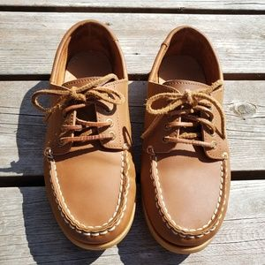 Bass Leather Slip on Boat shoes